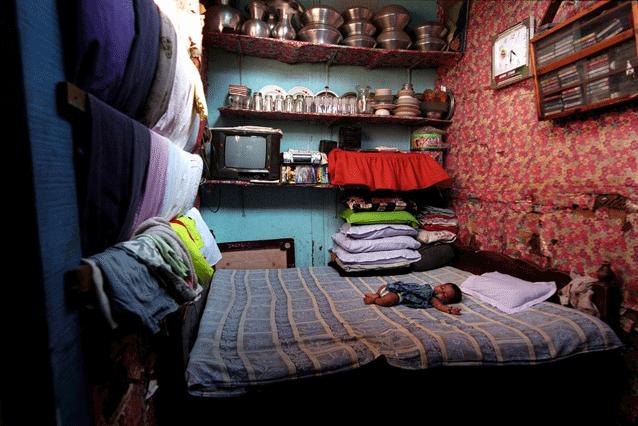 Nacido apátrida, este bebé obtuvo la nacionalidad en 2008 en Bangladesh. Crédito: UNHCR/G.M.B. Akash.