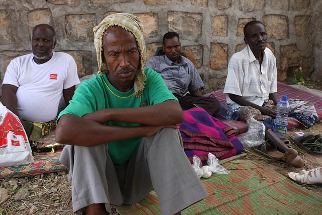 Desplazados somalíes en un campamento a las afueras de la ciudad de Dire Dawa, en el este de Etiopía. Crédito: James Jeffrey/IPS