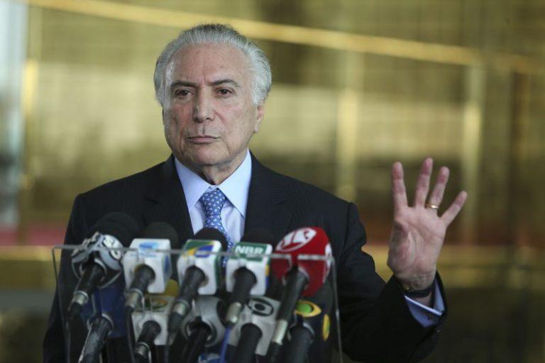 """La permanencia de Michel Temer en la Presidencia de Brasil, rechazando la renuncia tras escándalos que fortalecieron la convicción popular sobre su corrupción, aumentó el número de brasileños que """"sienten más verguenza que orgullo de su país"""". Crédito: Wilson Dias/Agencia Brasil."""