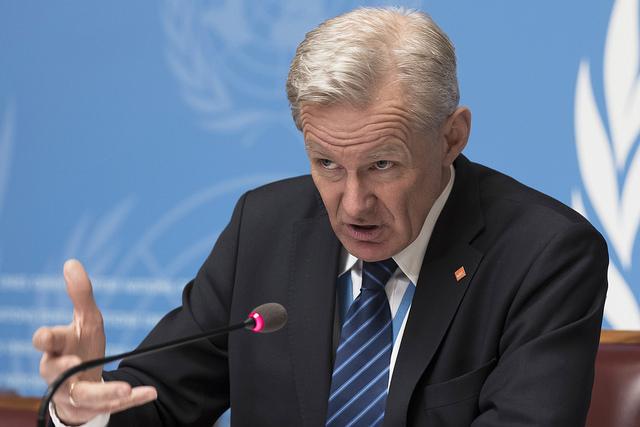 """""""En la actualidad, Guta Oriental y otras comunidades asediadas en Siria están totalmente privadas de sus derechos"""": Jan Egeland, secretario general del Consejo Noruego para los Refugiados. Crédito: Jean-Marc Ferré/ONU Foto."""