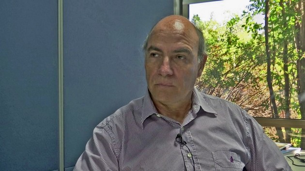 José Miguel Torrico durante su entrevista con IPS. Crédito: Orlando Milesi/IPS