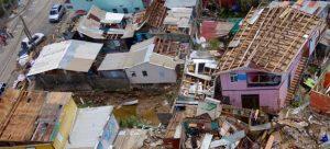 Muestra del desastre que dejo a su paso en Dominica el huracán María, de categoría 5. Crédito: UN Photo