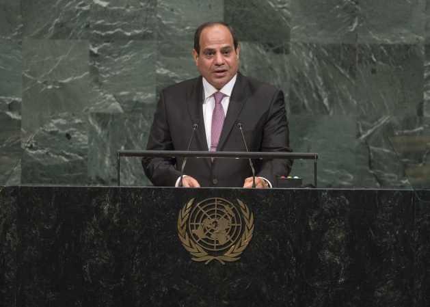 El presidente de Egipto Abdel Fatah al Sisi, se dirige a la Asamblea General de la ONU en su 72 período de sesiones. Crédito: Cia Pak/UN Photo.