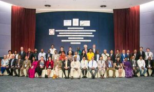 """""""Governments and NGOs from 21 nations, plus dentists, manufacturers, and UN Environment, gather in Bangkok"""". Credit: Environment & Social Development Organization, Dhaka"""