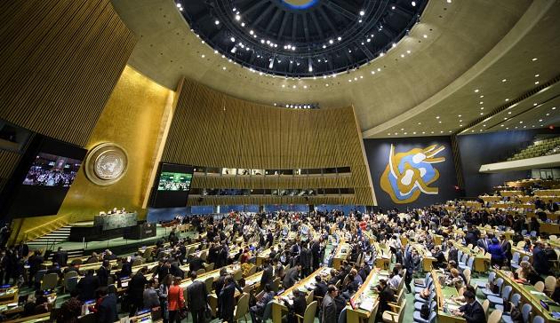 La Asamblea General de la ONU, el máximo órgano de decisión y con la potestad de erradicar el abuso sexual en el foro mundial. Crédito: Manuel Elias/UN photo.