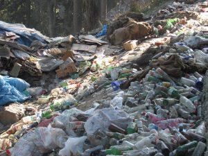 Las bolsas y botellas de plástico constituyen la mayor parte de la basura que obstruye el delicado ecosistema montañoso cuando montones de fieles hindúes visitan la cueva de Amarnath, en Cachemira, India, donde se encuentra una representación del dios Shiva. Crédito: Athar Parvaiz/IPS.