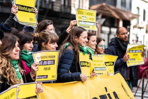 Una manifestación en apoyo a la legalización del aborto en Argentina. Crédito: Demian Marchi/Amnistía Internacional