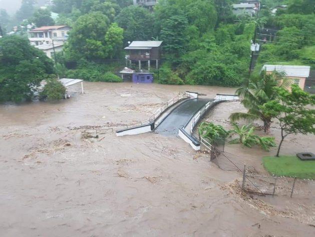 """Granada todavía evalúa el daño de las fuertes lluvias de la primera semana de agosto de 2018, que dejaron """"amplias y extensas"""" inundaciones. Crédito: Cortesía: Desmond Brown."""