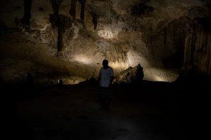 Interior de uno de los cenotes, las cavidades subterráneas llenas de agua formadas hace millones de año, que han impulsado el ecoturismo en el pueblo mexicano de Homún. Crédito: Pie de Página