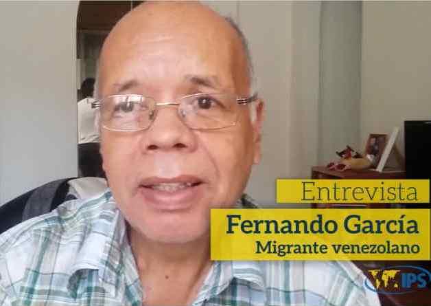 Fernando García tiene 60 años y migra con su familia a Perú, tras una vida dedicada al pequeño comercio, con negocios que han ido desde la venta de aparatos de telecomunicaciones, como walkie-talkies y otros similares, hasta de alimentación, como pescado o comida elaborada.
