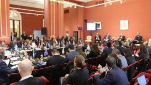 Deliberaciones en Buenos Aires de los ministros de Ambiente de 33 países de América Latina y el Caribe, que prepararon la postura regional para la Asamblea de las Naciones Unidas para el Medio Ambiente que se realizará en marzo en Nairobi. Crédito: ONU Medio Ambiente.