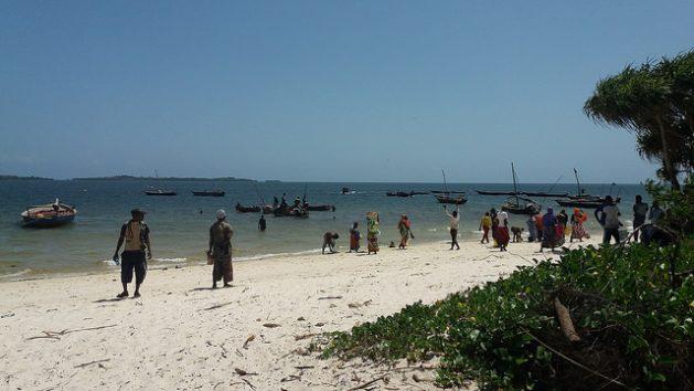 En la playa de Gasi, en el condado de Kwale, sobre el océano Índico, en Kenia, la gente espera para comprar pescado. La demanda de pescado aumenta en este país debido al rápido crecimiento de la población, en alrededor de tres por ciento al año, y de la mayor conciencia de su valor nutricional. Crédito: Diana Wanyonyi/IPS