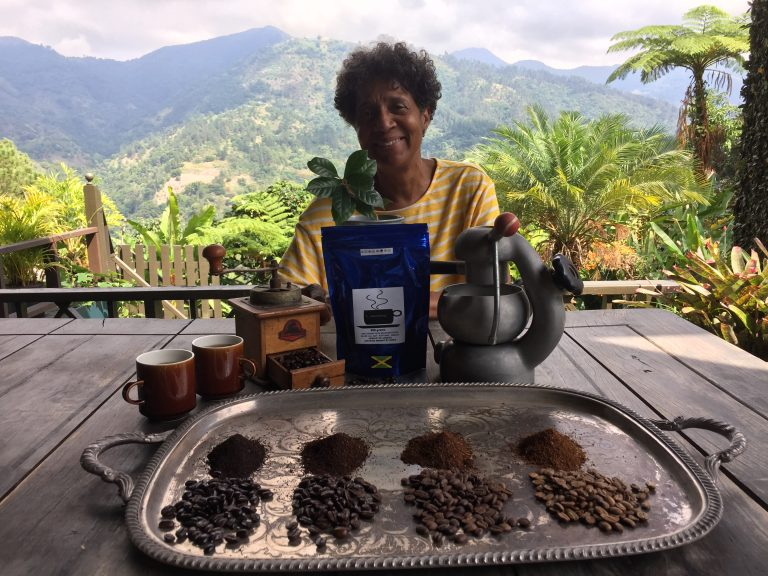 Dorianne Rowan-Campbell is an organic coffee farmer in Jamaica. Taking over her father's farm in 1992 and turning it into an organic one was a huge risk at the time. However, she sustainably grows 1,800 coffee trees and harnesses nature to deal with pests, rather than using pesticides. Courtesy: Dorienne Rowan-Campbell