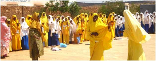 Niñas en el Centro Galkayo, en la región de Puntland, en Somalia. Crédito: Cortesía.