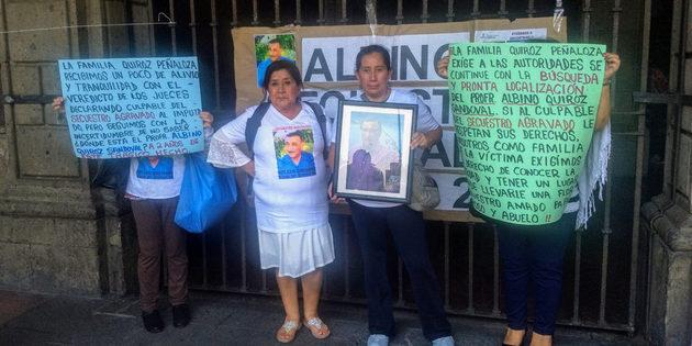 Los familiares de Albino Quiroz Sandoval demandan saber su paradero, después que el responsable de su desaparición fue condenado a 50 años de prisión por un tribunal mexicano. Crédito: Estrella Pedraza/Pie de Página