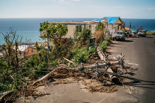 Los daños visibles en Dominica del paso de una tormenta por el país insular de las Antillas menores, que solo en 2017 perdió el equivalente a 253 por ciento, a consecuencia de los eventos climáticos. Crédito Michael Atwood / PNUD