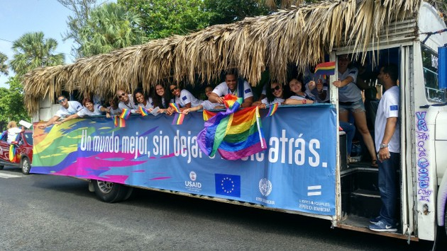 Activistas dominicanos del colectivo LGBTI. Crédito: PNUD República Dominicana