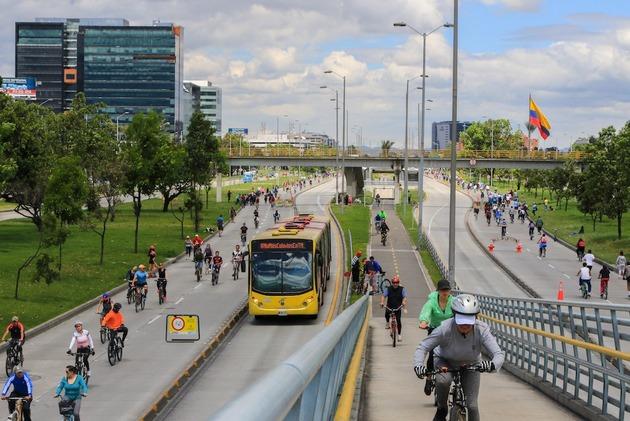 Ciclorruta recreativa en Bogotá. Crédito: Municipalidad de Bogotá