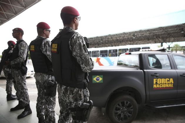 Después de una ola de ataques en Ceará, la Fuerza Nacional de Seguridad Pública fue enviada a su capital, Fortaleza, en apoyo a los agentes de seguridad del Estado de la región del Nordeste de Brasil. Crédito: José Cruz/Agência Brasil