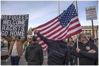 Una manifestación a favor de la acogida a los refugiados de las que se producen periódicamente en ciudades del estado de Nueva York. Crédito: Dominio público