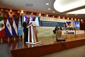 El director general de la FAO, durante su participación de la reunión de Alto Nivel sobre migración, desarrollo y seguridad alimentaria en Mesoamérica, en Ciudad de México, el martes 2. Crédito: FAO