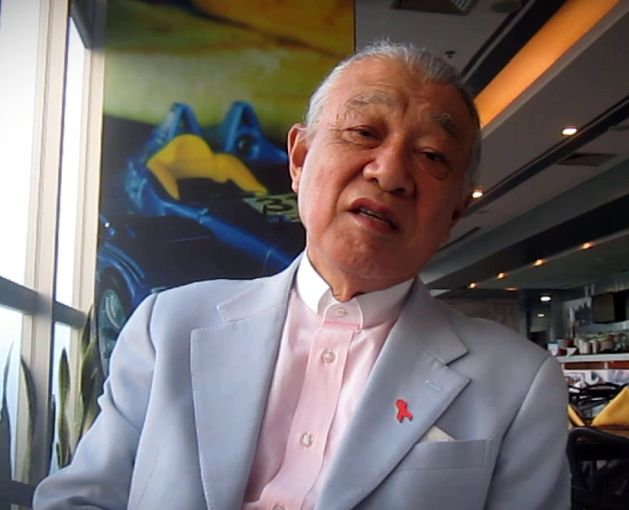 Yohei Sasakawa, presidente de la Fundación Nipona (Nippon Foundation) y embajador de buena voluntad de la Organización Mundial de la Salud para eliminación de la lepra