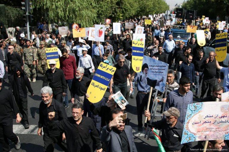 Manifestantes contra Estados Unidos en Teherán. Crédito: Anatolu Agency