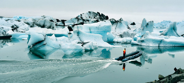 El lago de glaciares Jökulsárlón en Islandia continúa creciendo a medida que el glaciar con el mismo nombre se derrite. Crédito: Laura Quiñones/ONU