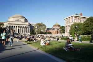 La Escuela de Periodismo de la Universidad de Columbia, en Nueva York, donde el 26 de septiembre se reunieron científicos y periodistas para hablar sobre como cubrir el cambio climático, en uno de los encuentros paralelos de la semana de cumbres de la ONU. Crédito: Universidad de Columbia