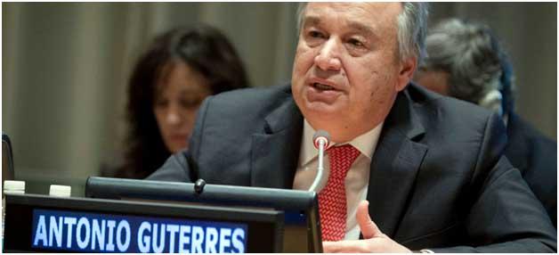 """Cuando la ONU se acerca al año de su 75 aniversario, en 2020, su secretario general, António Guterres, alerta de la grave situación del organismo mundial, cuyo adecuado funcionamiento ya no puede garantizarse sin una """"acción inmediata"""". Crédito: ONU"""