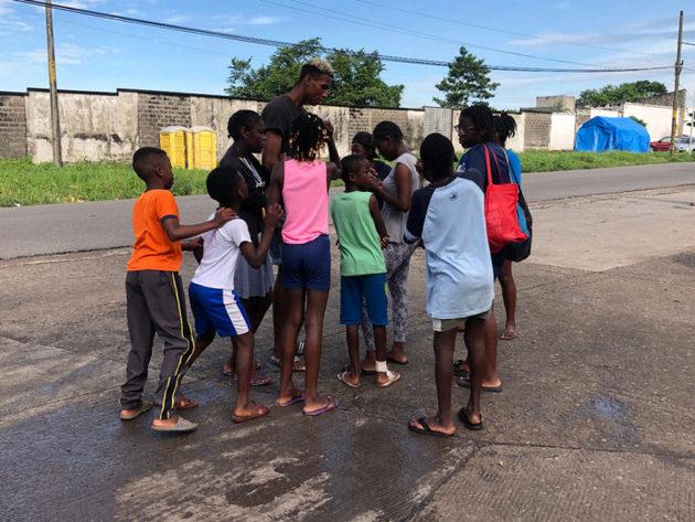 Migrantes africanos en Tapachula, en el estado de Chiapas, en el sur de México. Crédito: Chiapas Paralelo