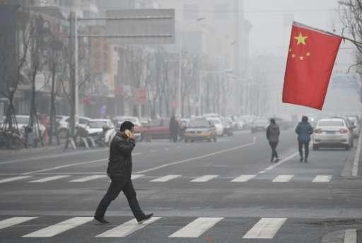 La guerra a la contaminación del aire es uno de los retos ambientales de China. Crédito: Phys.org