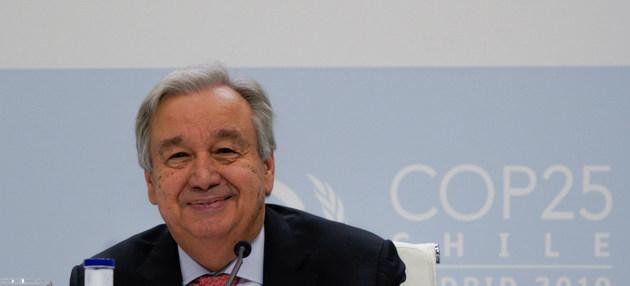 Guterres, secretario general de la ONU, advirtió que el punto de no retorno del cambio climático está a la vista y que en los próximos 12 meses es esencial que se garanticen compromisos nacionales más ambiciosos, particularmente de los principales emisores