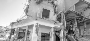 Destrucción en Trípoli, la capital de Libia. Crédito: Giles Clarke/OCHA