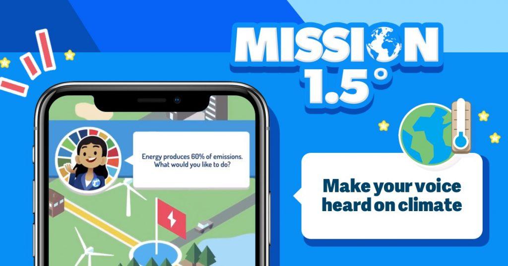 En el video juego móvil que promueve la acción climática, los usuarios podrán aprender sobre las políticas climáticas y votar las soluciones que les parezcan más adecuadas ante los impactos del incremento de las temperaturas