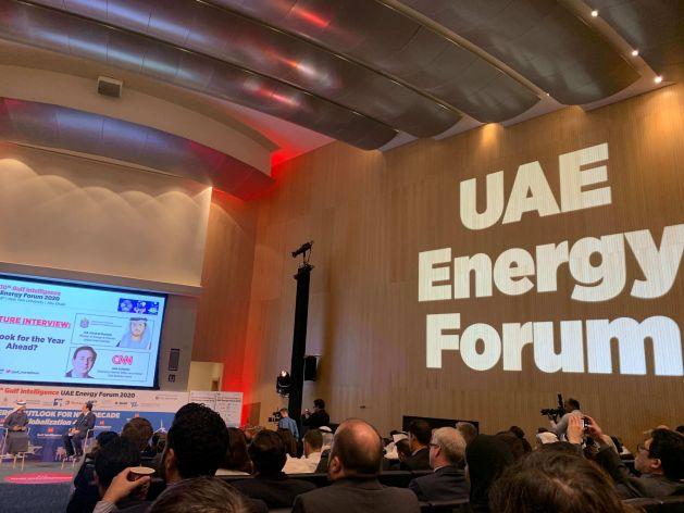 Foro Internacional de Energía de los Emiratos Árabes Unidos, uno de los encuentros sobre energías solar y eólica celebrado el mes pasado en EAU, en línea con la intención de la región del Golfo de incorporar energías renovables y promocionarse como una zona baja en carbono