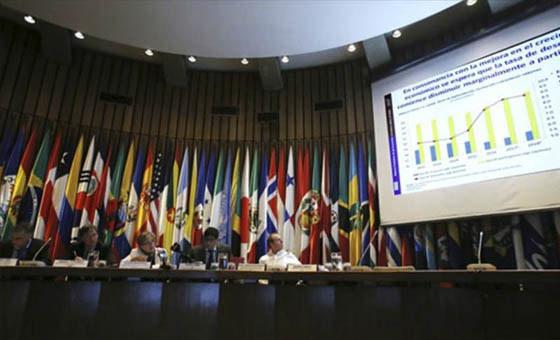 Alicia Bárcena y otros funcionarios examinan la situación económica y social en América Latina y el Caribe y los principales canales externos de impacto que tendrá el covid19 para la región