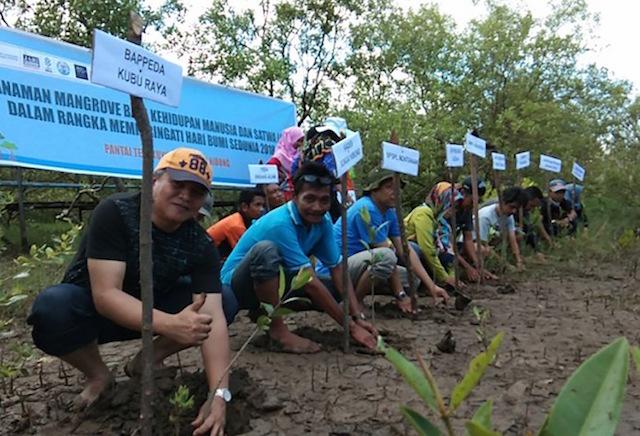 Riansyah, un activista de la Fundación Planeta Indonesia, ayudó a los pobladores en el área a entender y capacitarse en la pesca sostenible y a pensar en la sostenibilidad del mangla