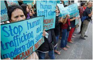 Manifestantes demandan el fin de la trata de personas en el mundo. Foto: Acnudh