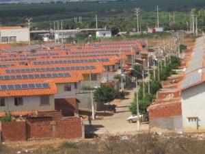 Generación distribuida en Brasil. Paneles fotovoltaicos en las afueras de Juazeiro, en el estado de Bahía.