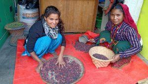 Las ventas de los frijoles de Jumla se han elevado gracias a una etiqueta en la que se explica su trasfondo y el negocio augura un buen futuro para Lalita y su familia. Foto: Organic World y Fair Future Pvt
