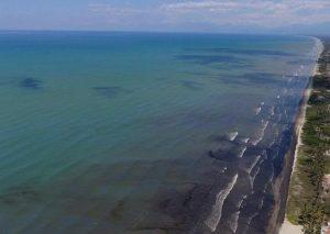 Golfo Triste, primer lugar impactado por el derrame. Foto: Morrocoy Online