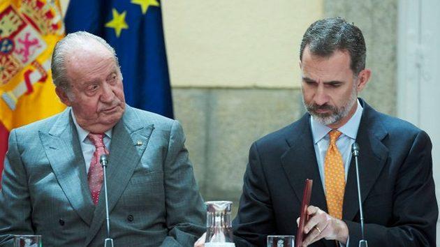 El rey emérito Juan Carlos y el rey Felipe. Foto: Palacio de la Zarzuela