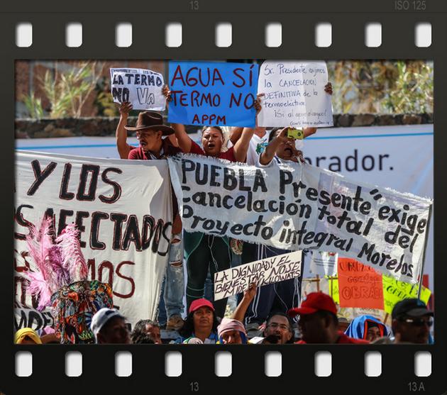 Una de las manifestaciones por derechos ambientales que se repiten en México. En 2019 murieron en el país por defender esos derechos al menos 18 activistas. Foto: Pie de Pagina