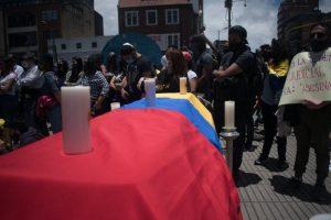 Manifestación en Bogotá, el 13 de septiembre, contra la violencia policial en Colombia. Foto: Shutterstock / danielr21n