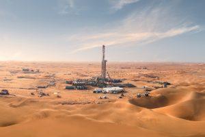 Prospección petrolera en la zona desértica de Al Dhafra, Emiratos Árabes Unidos, uno de los productores de crudo que prevé incrementar la extracción, mientras que los objetivos del Acuerdo de París contra el calentamiento global señalan que debe reducirse cada año. Foto: Adnoc
