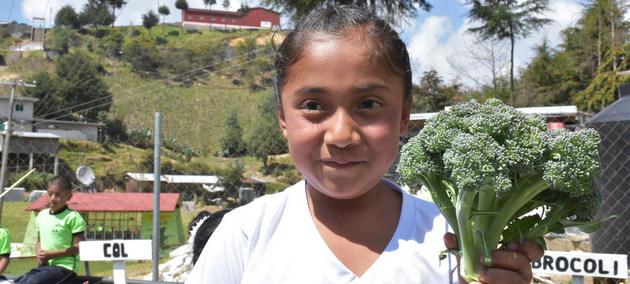 La FAO recomienda estimular en los niños la buena alimentación para prevenir el sobrepeso y la obesidad, problemas de salud que ya afectan a casi la mitad de la población de América Latina y el Caribe. Foto: Fernando Reyes/FAO