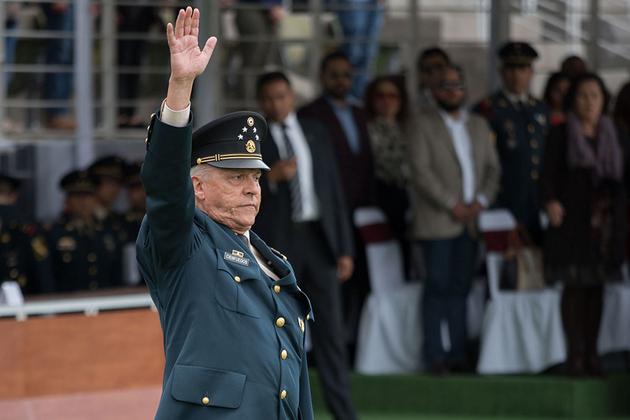 El general mexicano Salvador Cienfuegos, cuando estaba en la cúspide de su poder como secretario de Defensa. Foto: Mario Jasso / Cuartoscuro