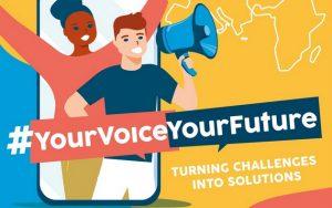 """La campaña """"Tu voz, tu futuro"""" busca recoger las opiniones de los jóvenes de África y Europa y llevarlas a quienes toman decisiones en ambos continentes. Imagen: UA-Unicef"""