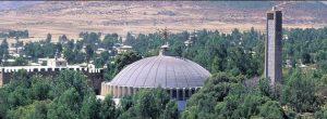 Vista desde altos de un templo en Axum, importante centro religioso etíope donde fuerzas de la vecina Eritrea habrían masacrado a cientos de civiles en noviembre de 2020, en el marco de un conflicto entre la región y el gobierno central de Etiopía. Foto: Jialang Gao/AI